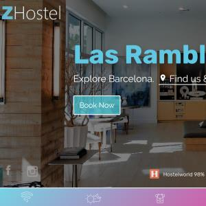 Hotel website mobile reservations system