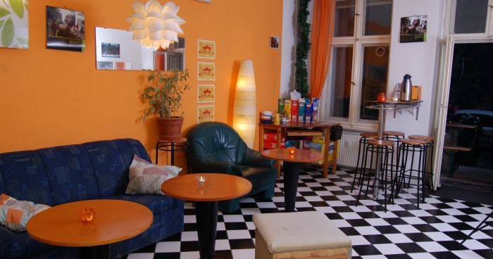 Make cheap reservations at a hotel like BackpackerBerlin